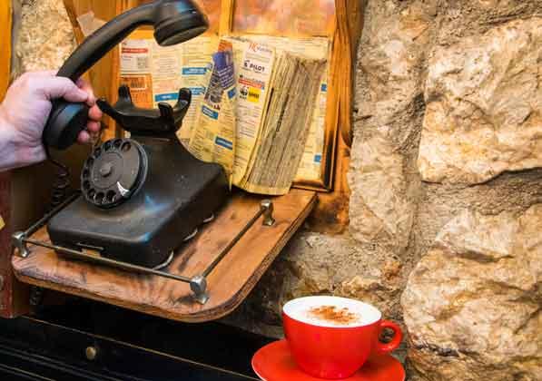 καφές κερατσίνι τηλέφωνο